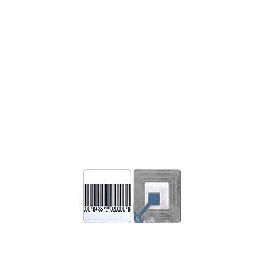 Paq. con 100 tags Etiqueta Adherible RF 40 x40 mm Mod: GF4040H